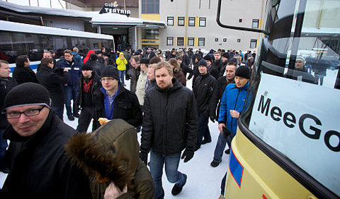 Epleados de Nokia protestan abandono de Symbian